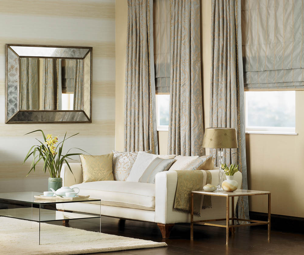 Roman Shades And Drapery Interior Design Window Treatments Curtain Call Creations