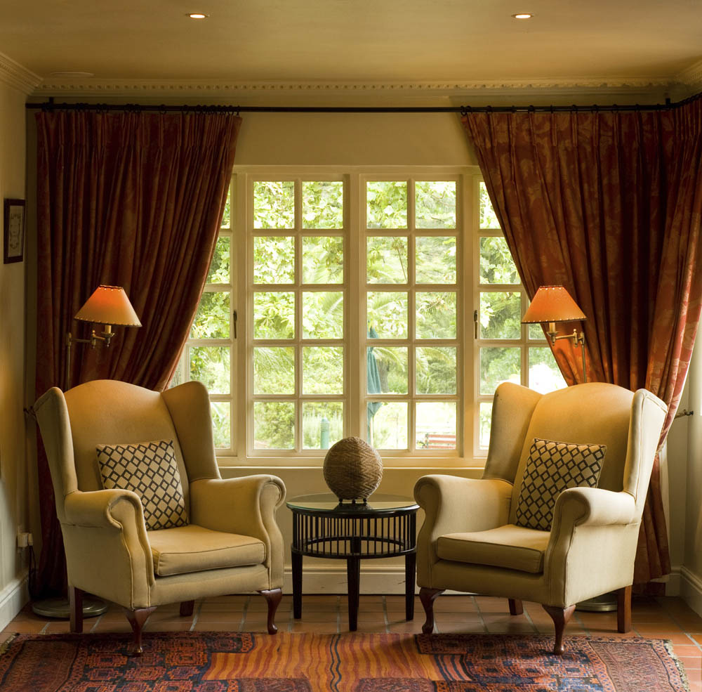 Drapes Framing A Wall To Wall Window Interior Design Window Treatments Curtain Call Creations